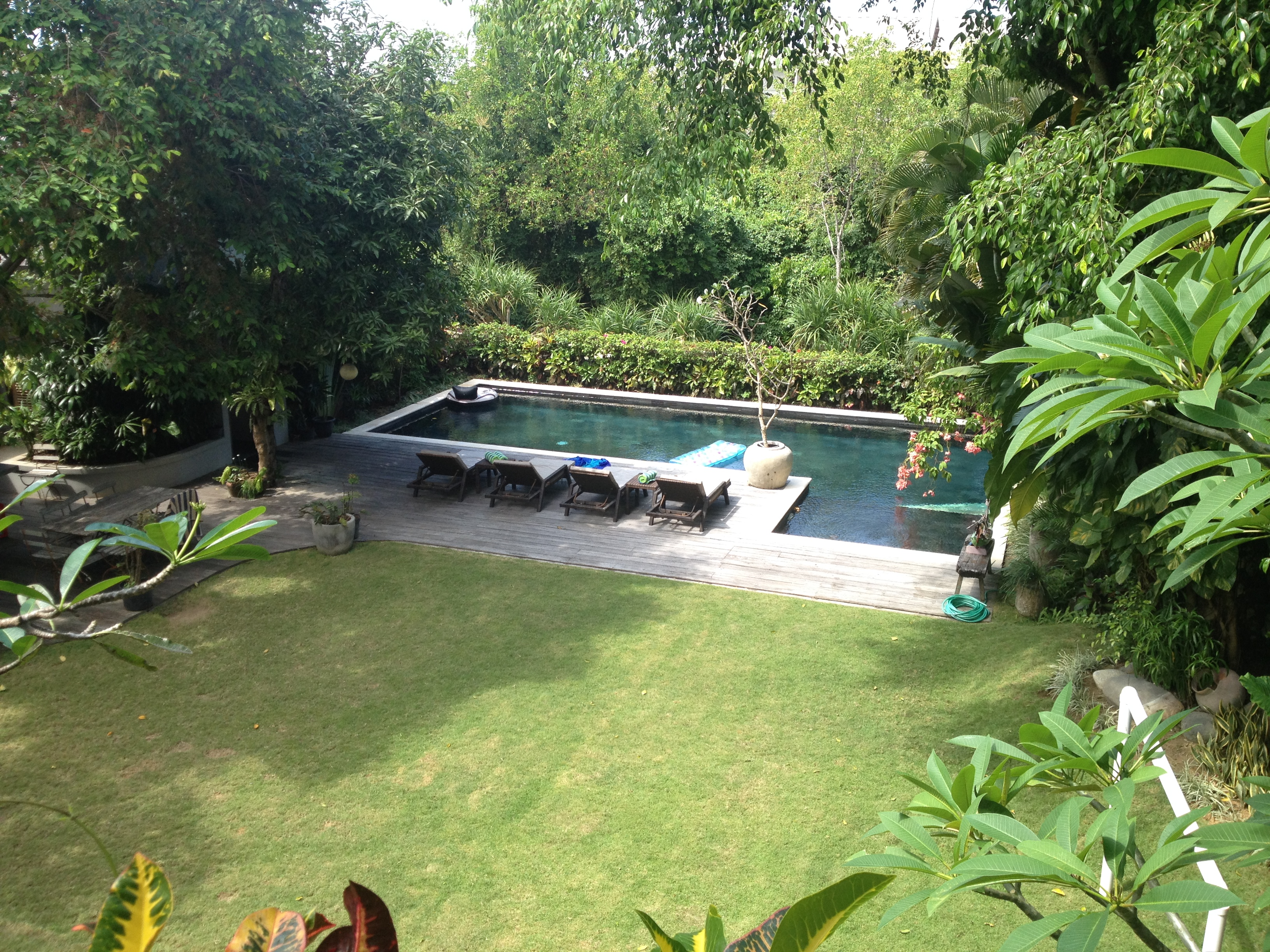 pool and garden view from master terrace 1 hidden villa bali